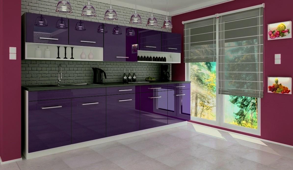 Kuchyňská linka Devil-fialová