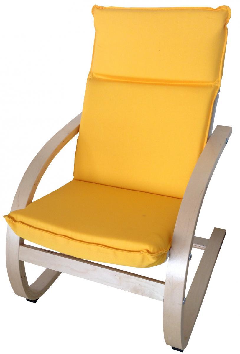 Dětské relaxační křeslo žluté