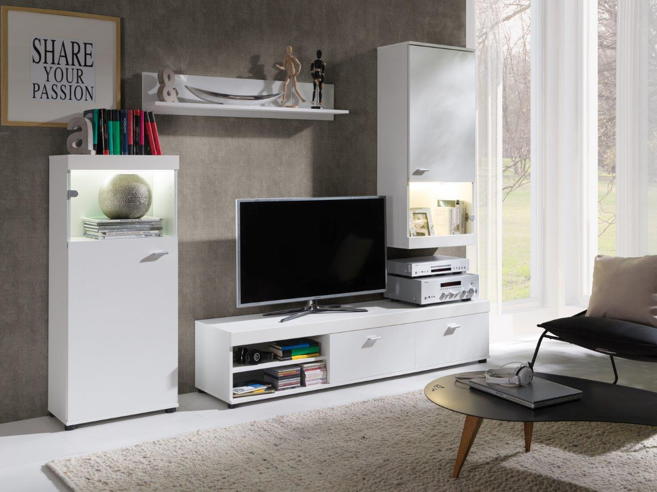 obývací stěna Evra bílá