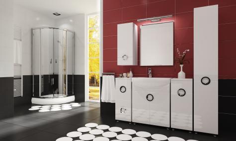 Koupelnová sestava-Ariel-bílý lesk