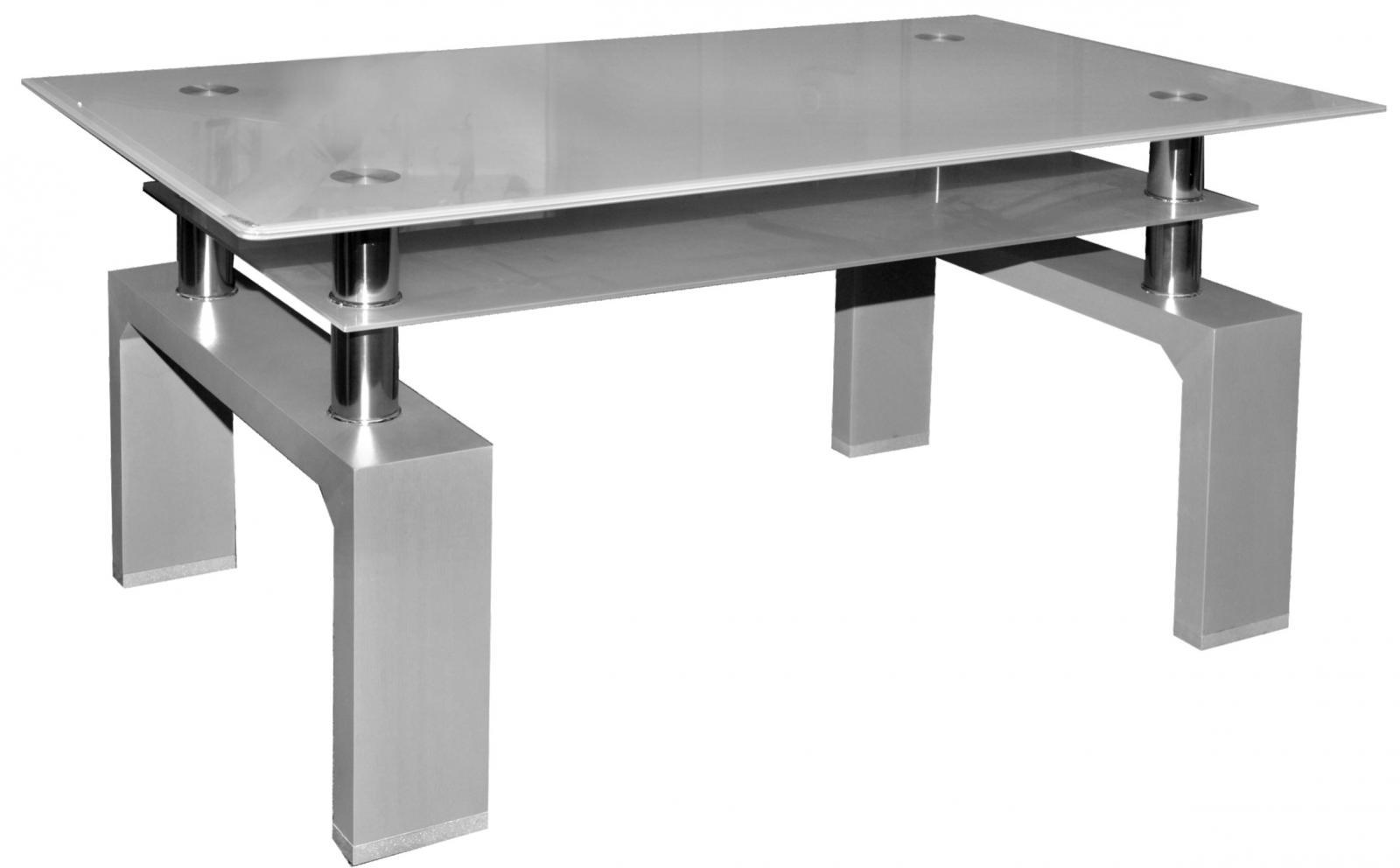 konferenční stolek A 08-3 šedá/šedé horní sklo - sleva