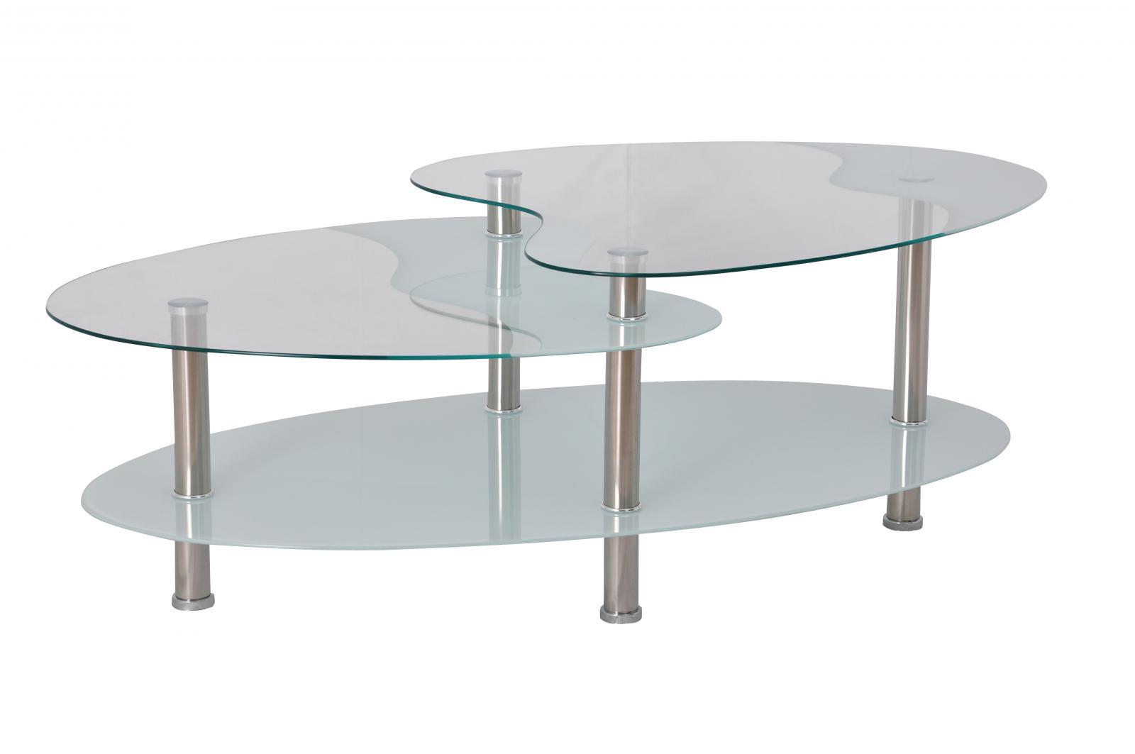 konferenční stolek BA-5 Oval bílý