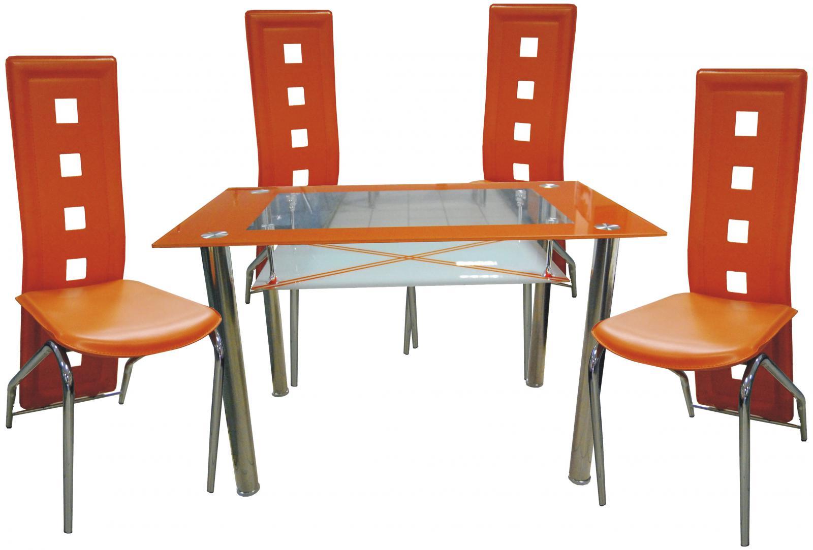 Jídelní set Orlando 1+4 oranžový