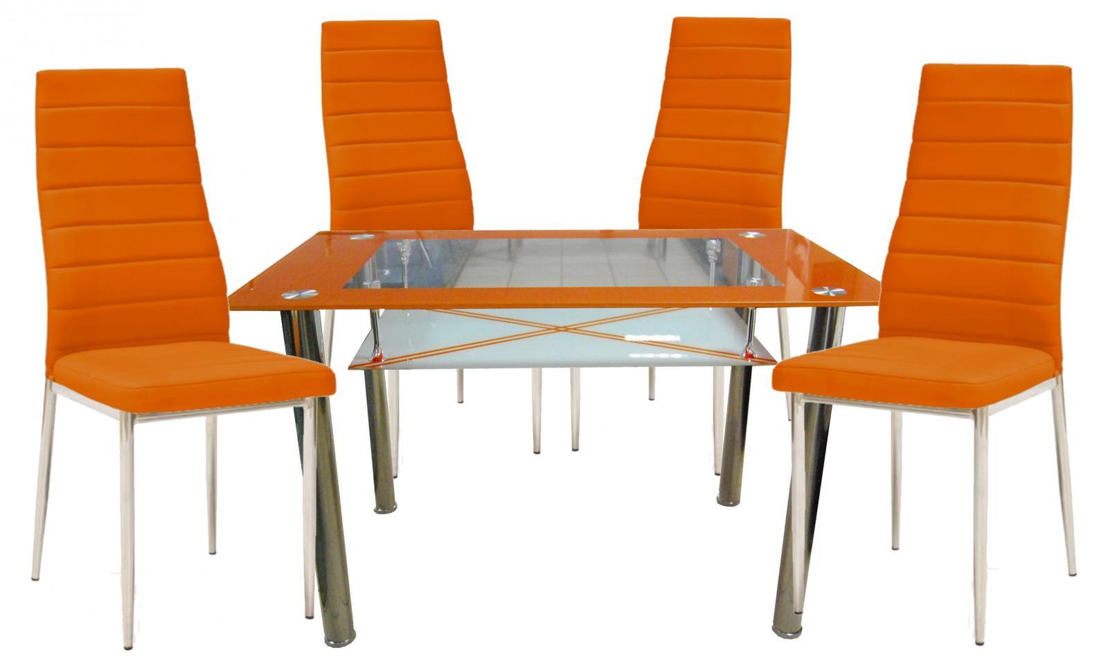Jídelní set Dion 1+4 oranžový