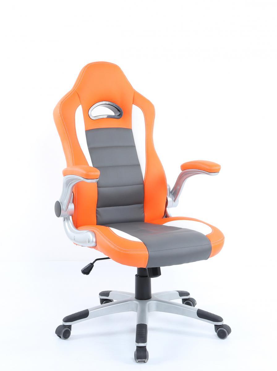 Křeslo Pilot 32 OGW oranžovo šedo bílá