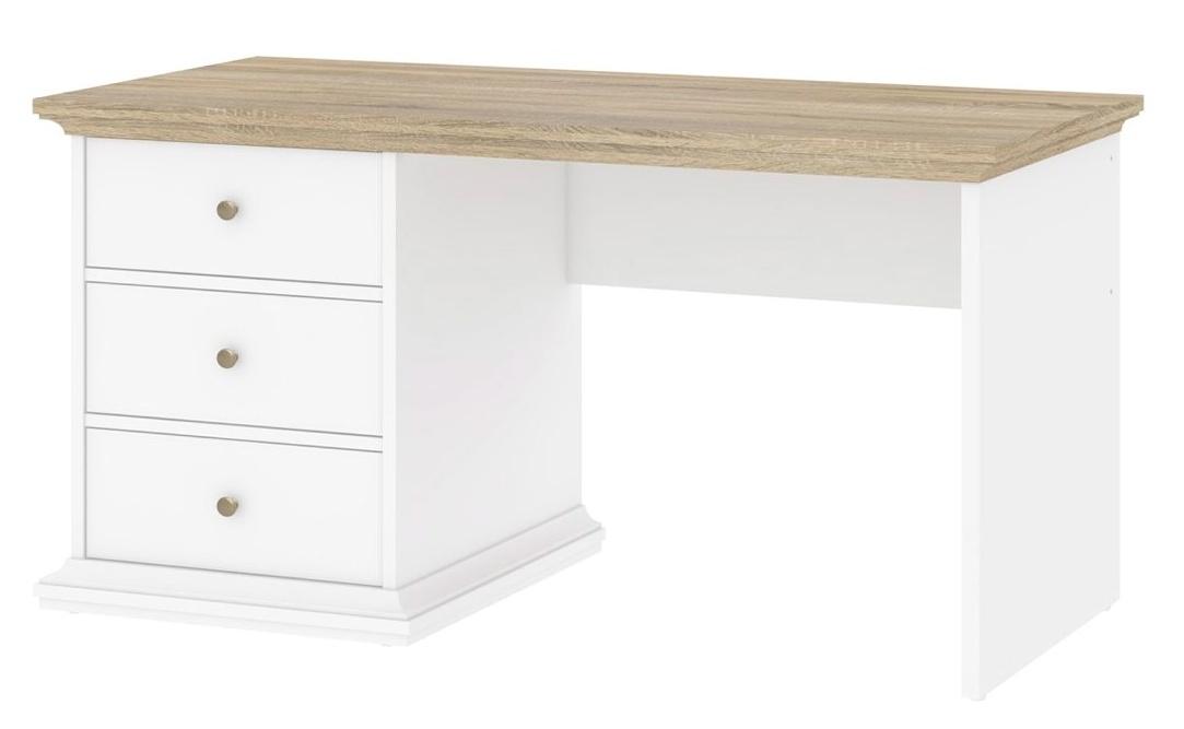 Psací stůl Provence 821 bílá/dub
