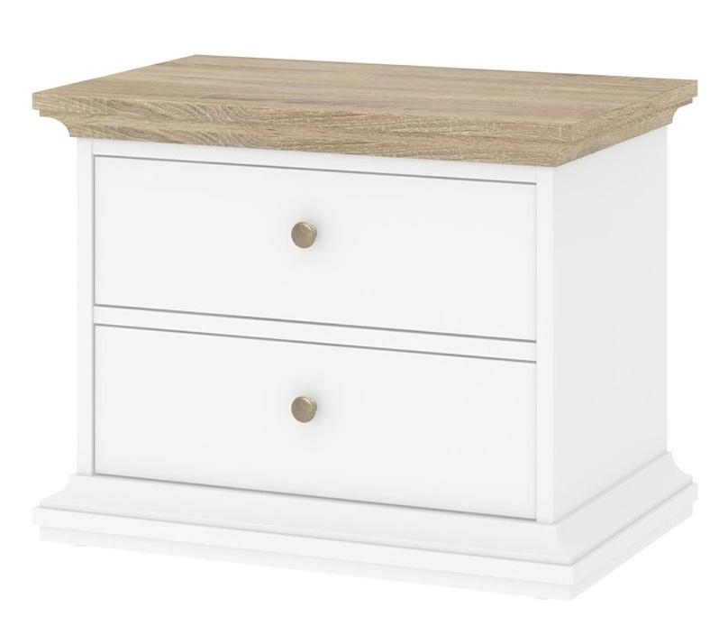 Noční stolek Provence 301 bílá/dub