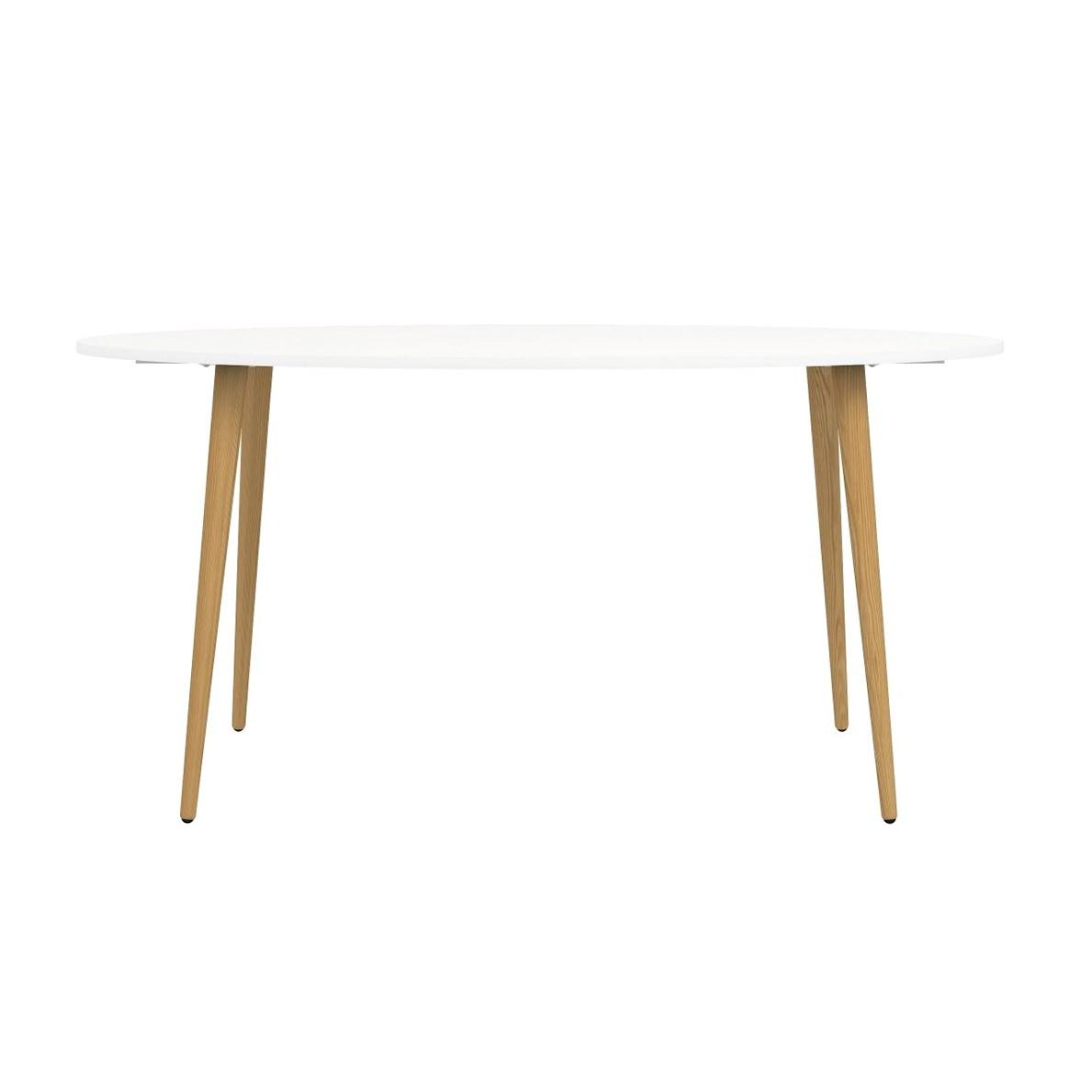 Jídelní stůl Retro 397 bílá/dub