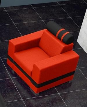 Křeslo Replay oranžová/černá