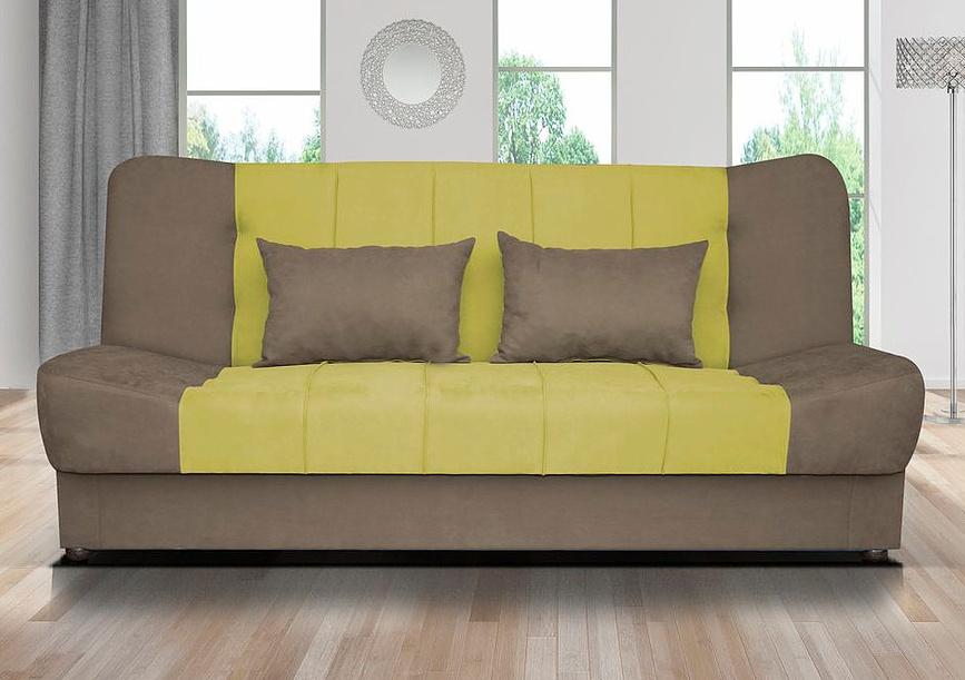 Pohovka Sun žluto-zelená/hnědá