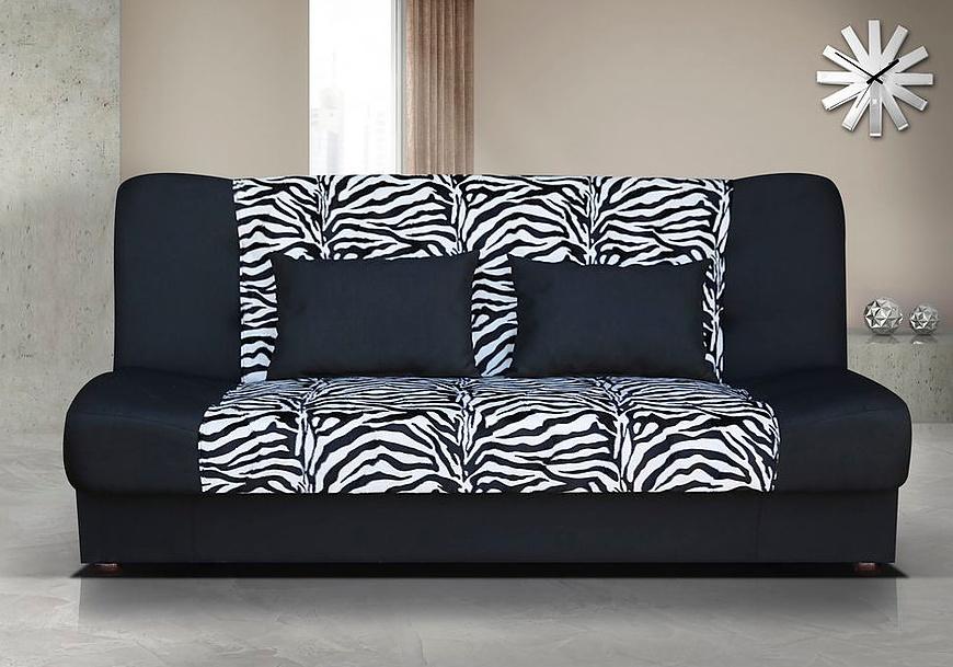 Pohovka Sun II zebra/černá