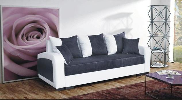 Pohovka Zara černá/EKO bílá