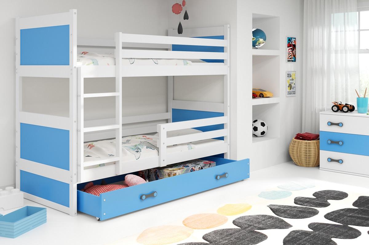 Patrová postel Riky bílá/modrá