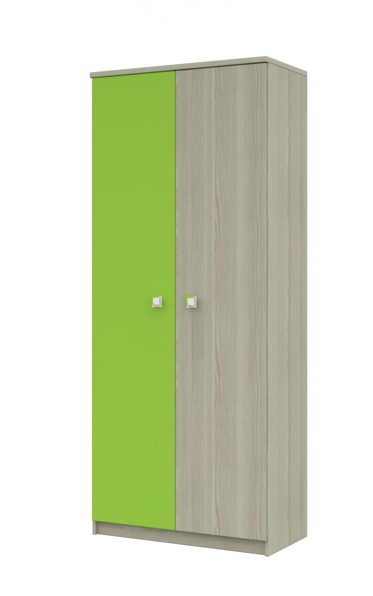 Merkur 06 skříň 2d jasan/zelená