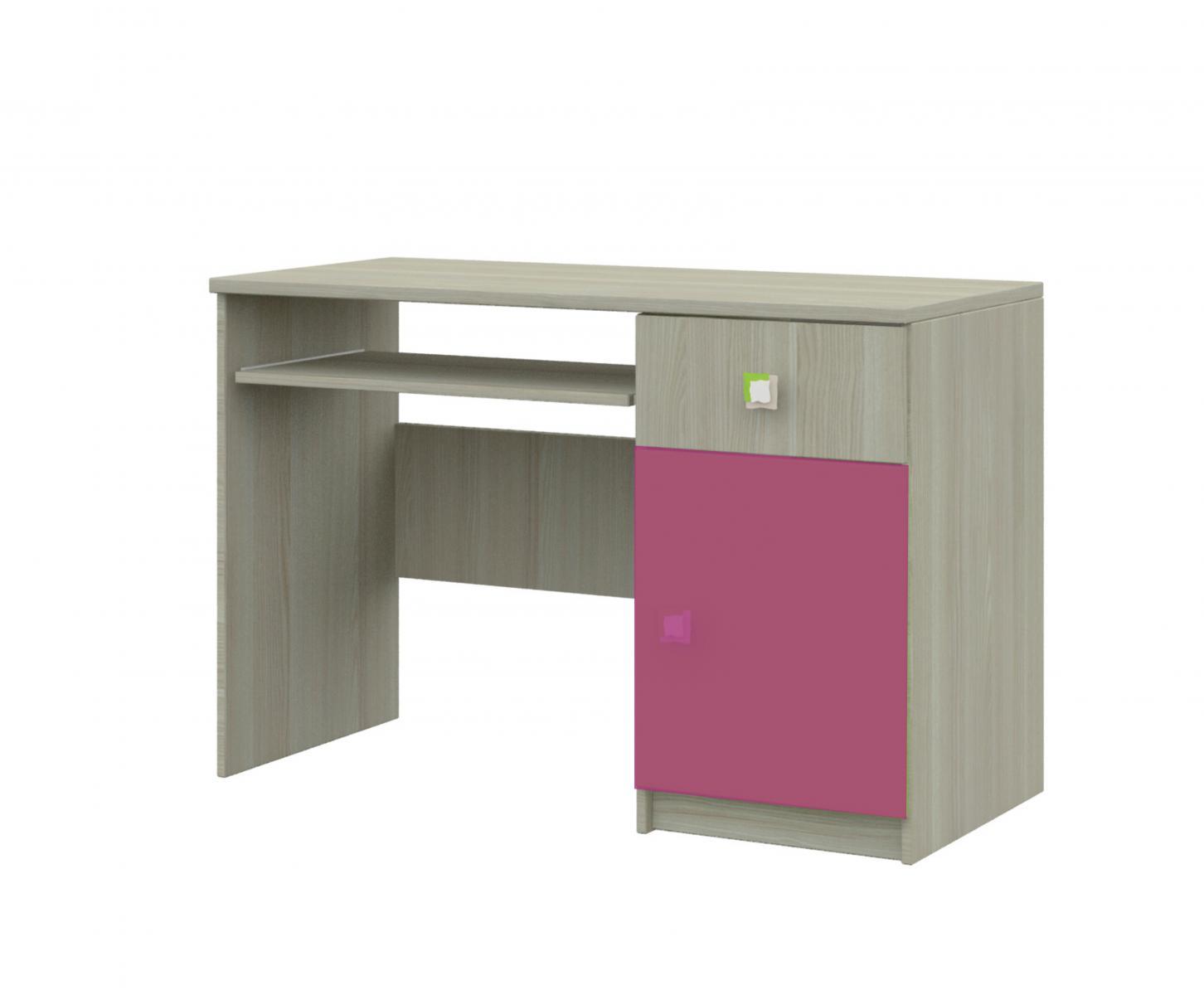 Merkur 08 psací stůl jasan/růžová