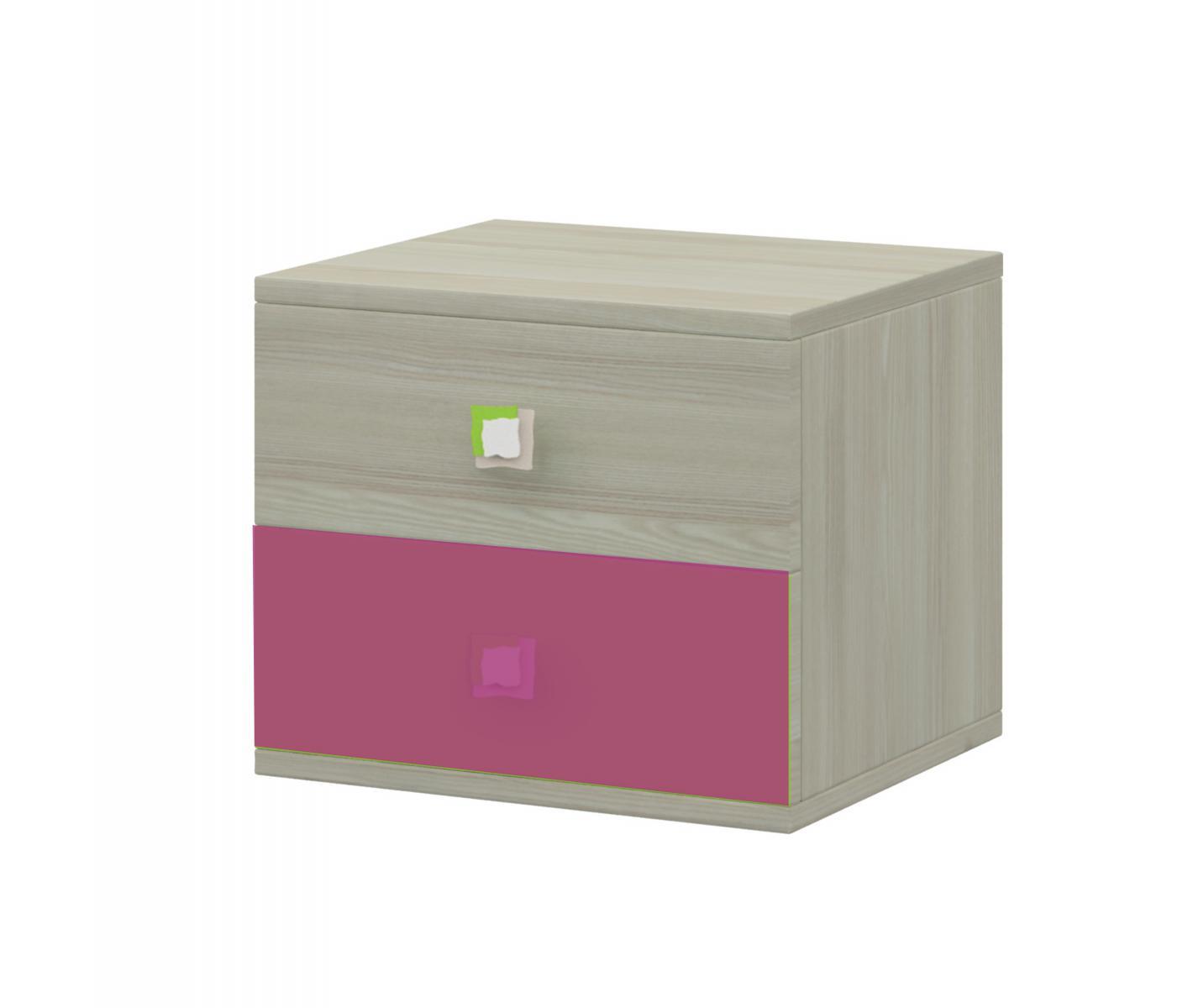 Merkur 22 noční stolek jasan/růžová