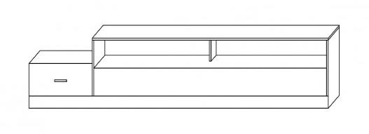 TV stolek Grey R3 bílá/černá