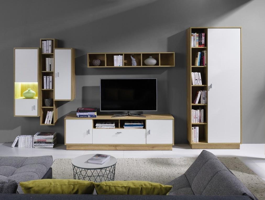 Obývací stěna Parker 4 dub lefkas/bílá
