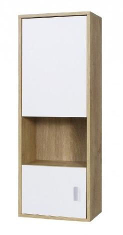 Závěsná vitrína Parker R7 dub lefkas/bílá