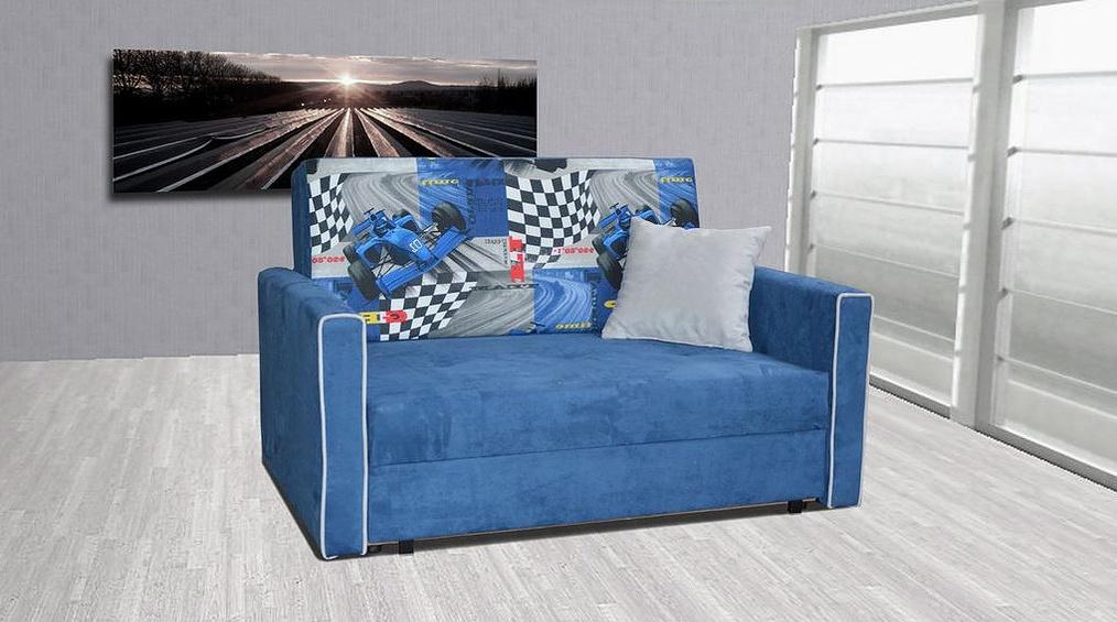 Rozkládací křeslo Vivian II modrá/F1 modrá