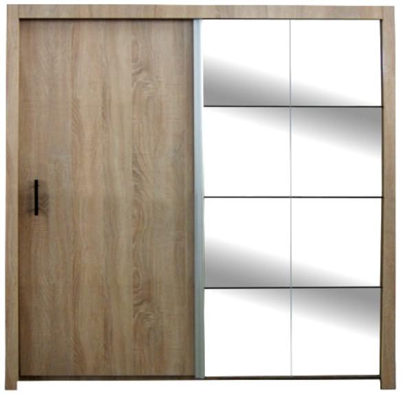 šatní skříň Nova dub sonoma 200 cm - sleva
