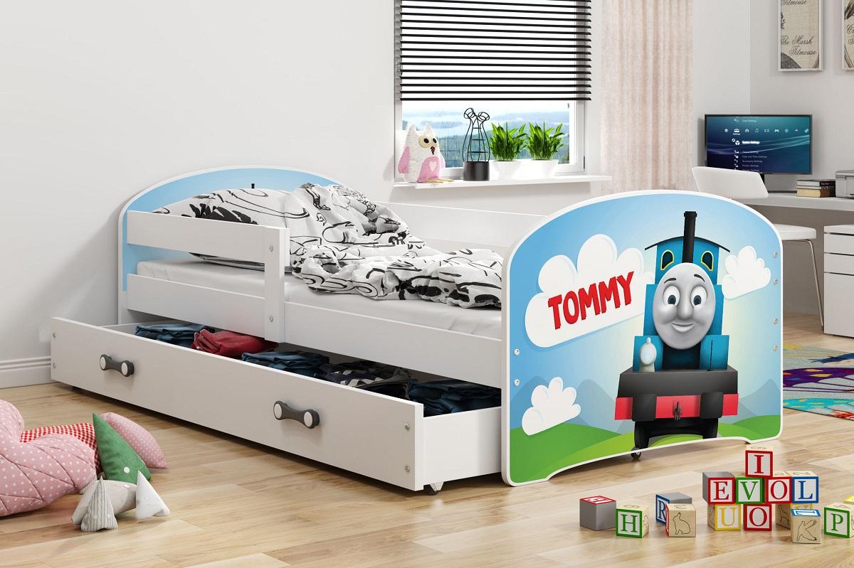 Postel Hubert 80x160 bílá/Tommy