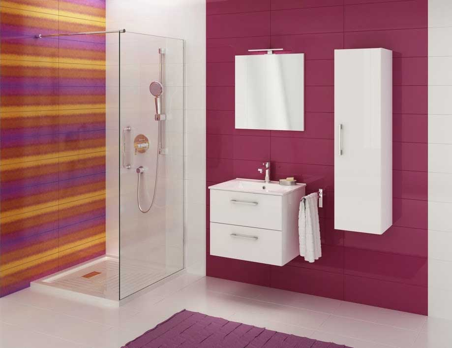 Koupelnová sestava s umyvadlem Metro 80 grafit lesk