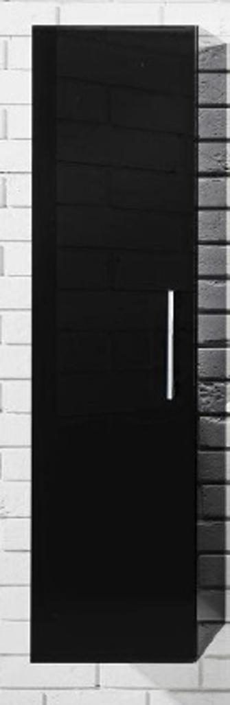 Závěsná koupelnová skříňka Metro C32 černý lesk