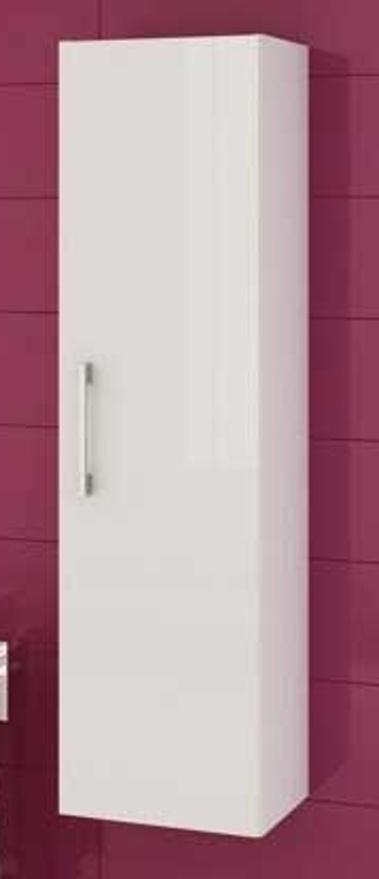 Závěsná koupelnová skříňka Metro C32 grafit lesk