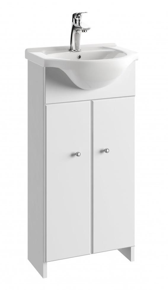 Koupelnová skříňka s umyvadlem Tania D40 bílý lesk