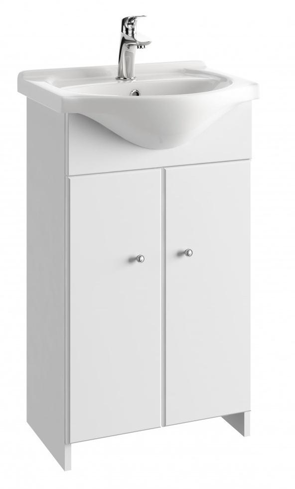 Koupelnová skříňka s umyvadlem Tania D50 bílý lesk