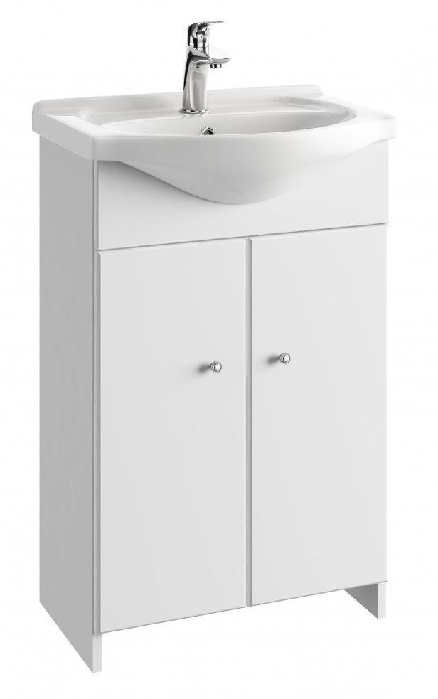 Koupelnová skříňka s umyvadlem Tania D55 bílý lesk