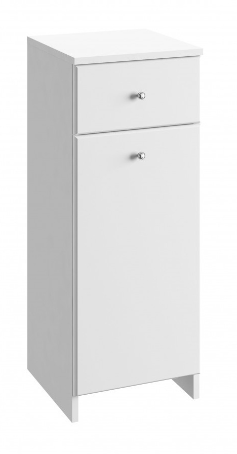 Koupelnová skříňka Tania B32 koš bílý lesk