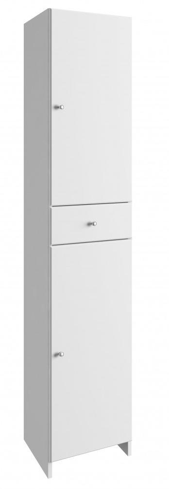 Vysoká koupelnová skříňka Tania C170 bílý lesk