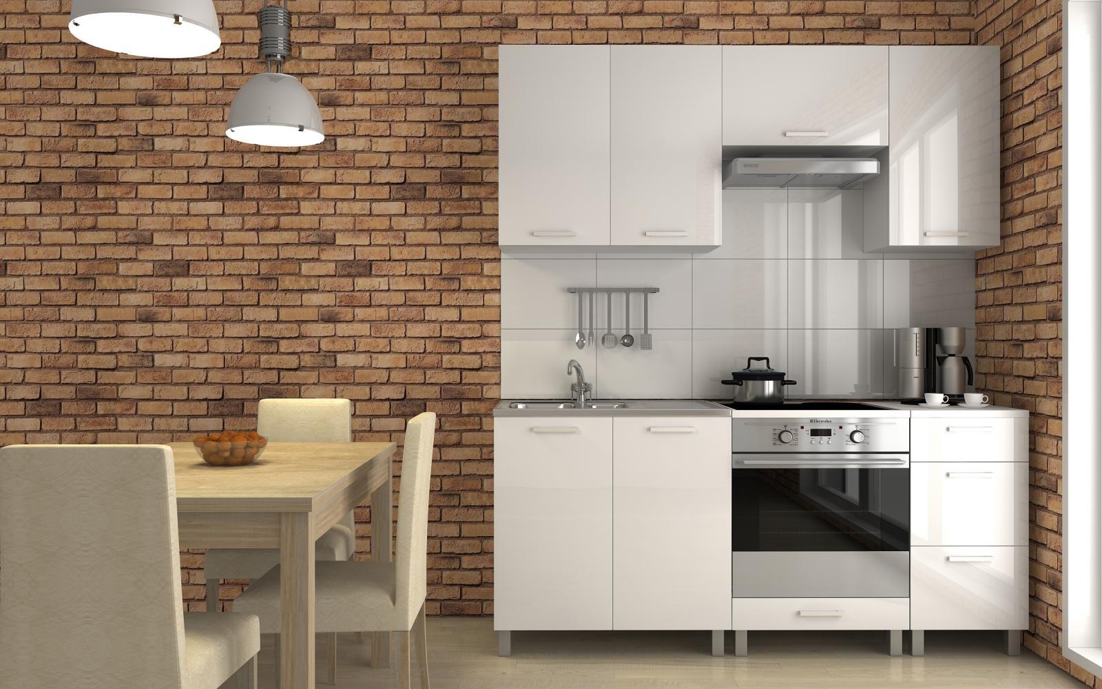 Kuchyňská linka Despacito RLG 180 bílý lesk