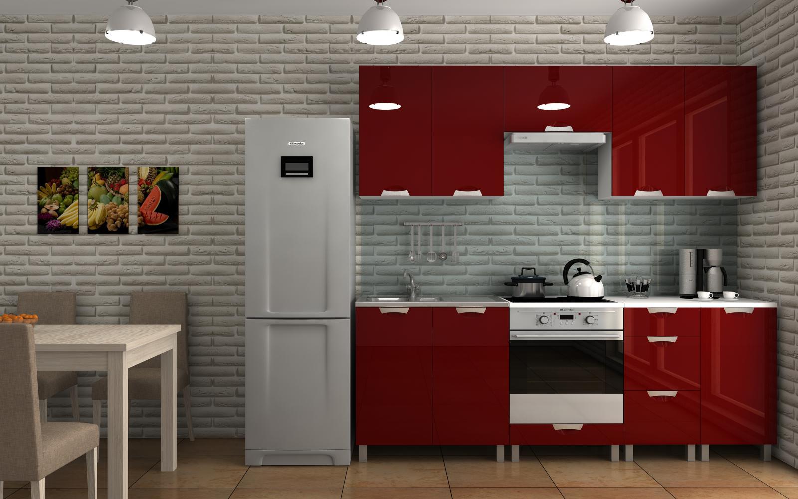 Kuchyňská linka Dalliance KRF 220 bordo lesk