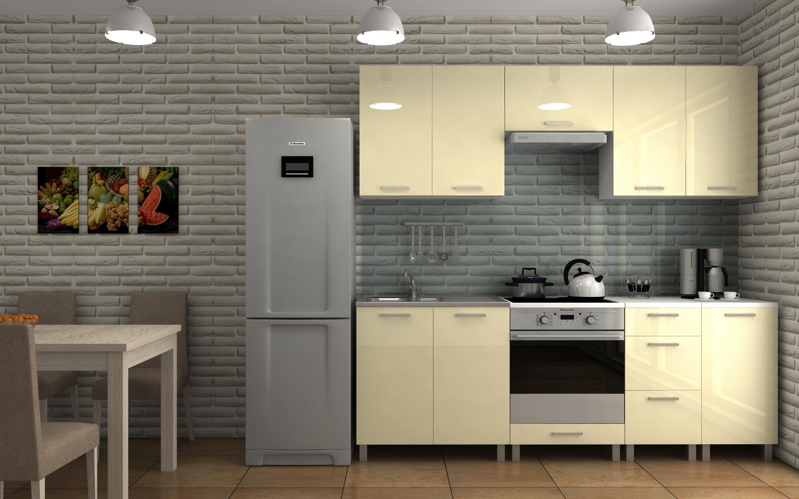 Kuchyňská linka Dalliance KRF 220 vanilka lesk
