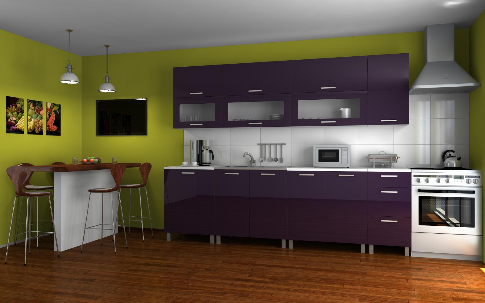 Kuchyňská linka Saleri MDR 260 fialový lesk