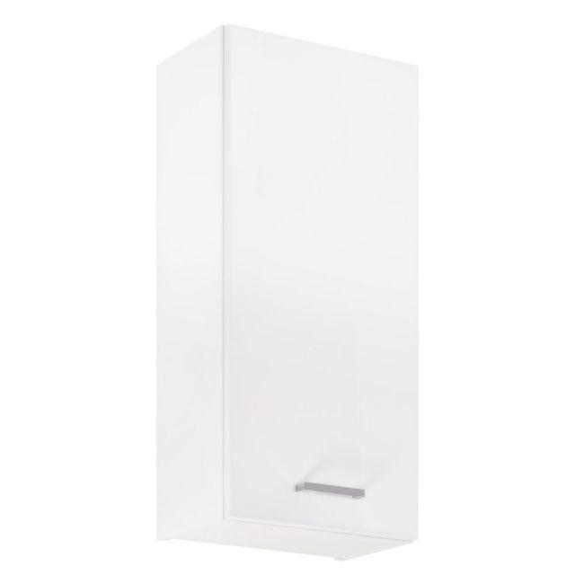 Závěsná koupelnová skříňka Mea A30 bílý lesk