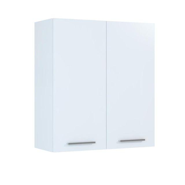 Závěsná koupelnová skříňka Mea A50 bílý lesk