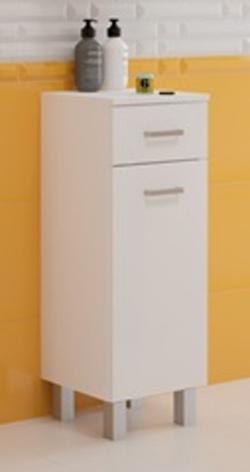 Koupelnová skříňka Mea B30 1d1s bílý lesk