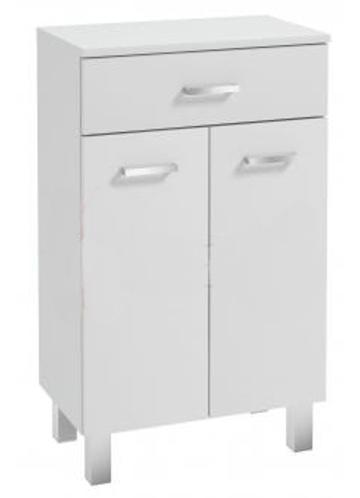 Koupelnová skříňka Mea B50 2d1s bílý lesk