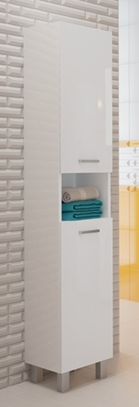 Koupelnová skříňka Mea C30 bílý lesk