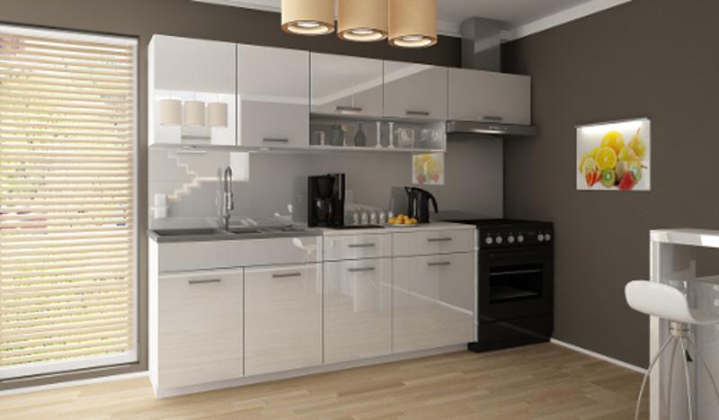 Kuchyňská linka Samara 180/240 bílý lesk