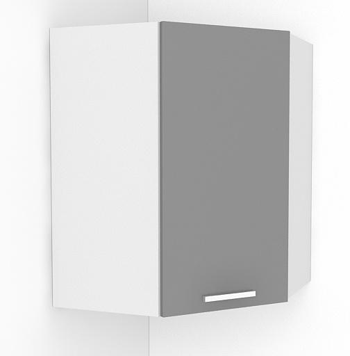 Rohová kuchyňská skříňka Natanya NG bílý lesk