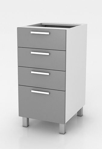 Kuchyňská skříňka Natanya SZ40 4SZ šedý lesk