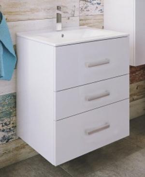 Koupelnová sestava s umyvadlem Magne D60 bílý lesk