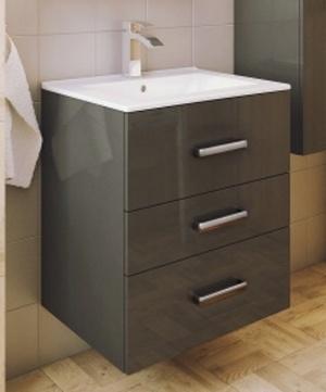 Koupelnová sestava s umyvadlem Magne D60 grafit lesk