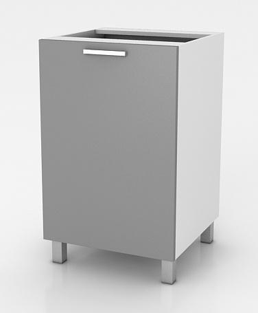 Kuchyňská skříňka Natanya D401D šedý lesk