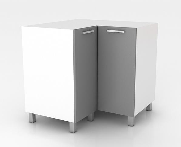 Rohová kuchyňská skříňka Natanya ND bílý lesk